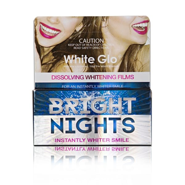 White Glo Bright Nights Whitening Strips 6s