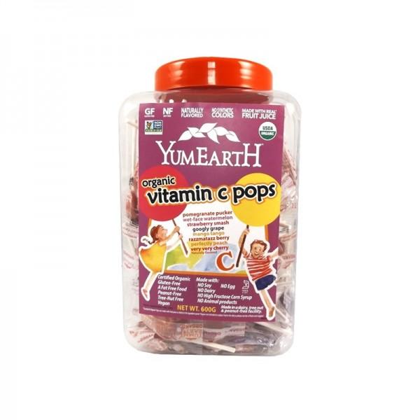 Yumearth Organic Vitamin C Lollipops Jar 100s